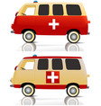 Cartoon ambulance vector image vector image
