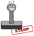 Cartoon stamp vector image vector image
