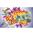 Cartoon styled type of the word SALE vector image vector image