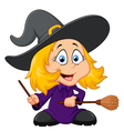 Cartoon young witch