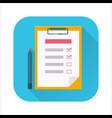 checklist flat icon vector image vector image