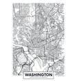 city map washington travel poster design vector image
