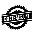 Create account stamp vector image