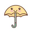 cute umbrella kawaii character vector image