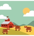 farm and agriculture design vector image vector image