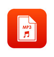 file mp3 icon digital red vector image vector image