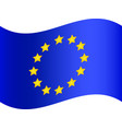 flag of european union eps 10 vector image vector image