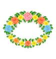 floral frame decoration vector image vector image