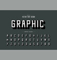 font and alphabet shadows typeface and letter vector image vector image