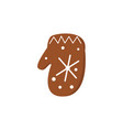 gingerbread christmas cookies funny decorated vector image vector image