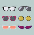 glasses color modern vector image