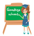 Goodbye School vector image