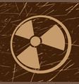 grunge radiation symbol vector image