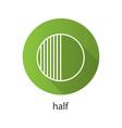 half flat linear long shadow icon vector image vector image