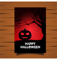 hallowin card vector image