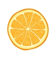 Hand drawn cartoon orange slice vector image