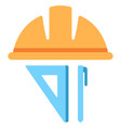 hat engineer flat icon vector image