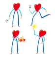 heart characters vector image vector image