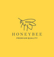 honey bee logo line outline monoline icon vector image vector image
