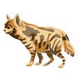 hyena icon cartoon style vector image vector image