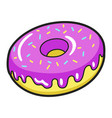 icing donut bright icon delicious cake vector image vector image
