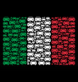 italy flag pattern of car icons vector image vector image