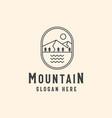 mountain adventure and outdoor vintage logo vector image vector image