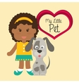 Pets love design vector image
