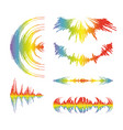 rainbow music wave logo collection on white vector image vector image