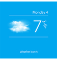 Realistic weather icon Overcast clouds vector image vector image