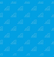 sea cliff pattern seamless blue vector image