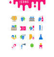 set simple icons wine vector image vector image