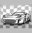 silhouette sport car for racing sports vector image vector image
