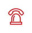 siren lamp call center emergency phone logo icon vector image