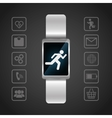 smart watch wearable technology portable dark vector image vector image