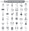 Startup and development black icon set vector image vector image
