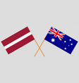 the australian and latvian flags vector image vector image