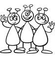 three aliens for coloring book vector image vector image