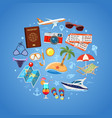 vacation and tourism concept vector image
