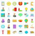 virus marketing icons set cartoon style vector image