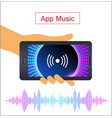 voice recognition on mobile app personal vector image vector image