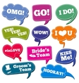 Weddings phrases in speech bubbles photo vector image