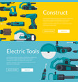 with electric construction vector image