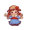 Girl in dress and hat for Festa Junina party vector image