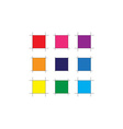 Abstract Color Square vector image