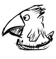 Bird with big beak vector image