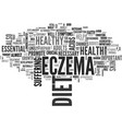 a healthy diet can help clear up your eczema text vector image vector image