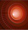 Abstract 3d red spiral tunnel vector image vector image