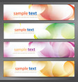 abstract background business banner set vector image vector image