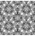 abstract celtic floral seamless pattern line vector image vector image
